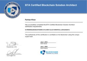 Certified Blockchain Solution Architect