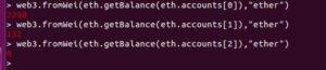 Ethereum Client communication with the default JavaScript Console
