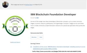 IBM Blockchain Foundation Developer